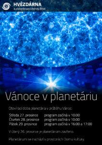 Plakát - Vánoce v planetáriu 2017
