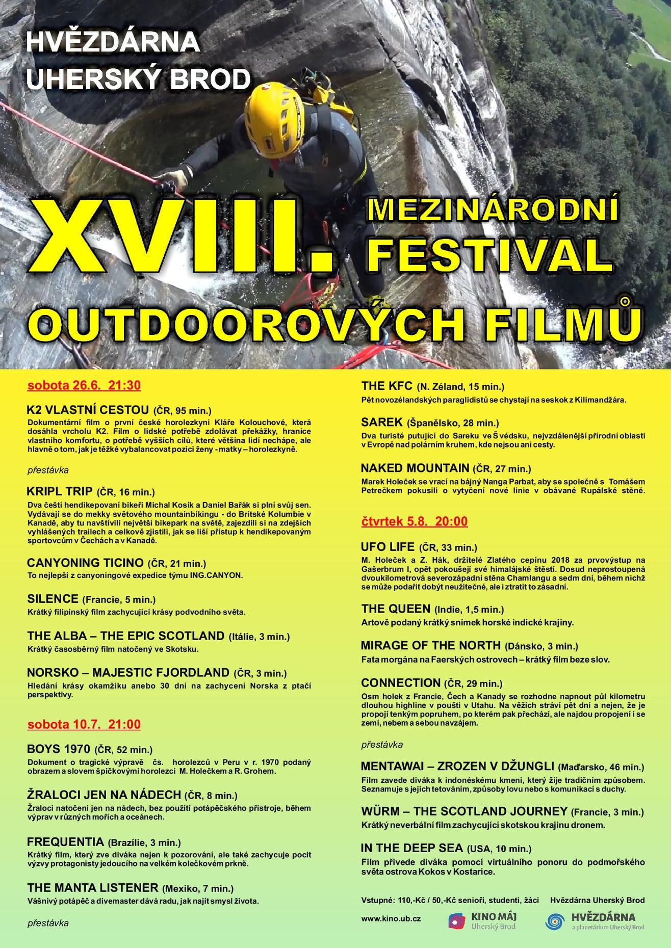 XVIII. Mezinárodní festival outdoorových filmů