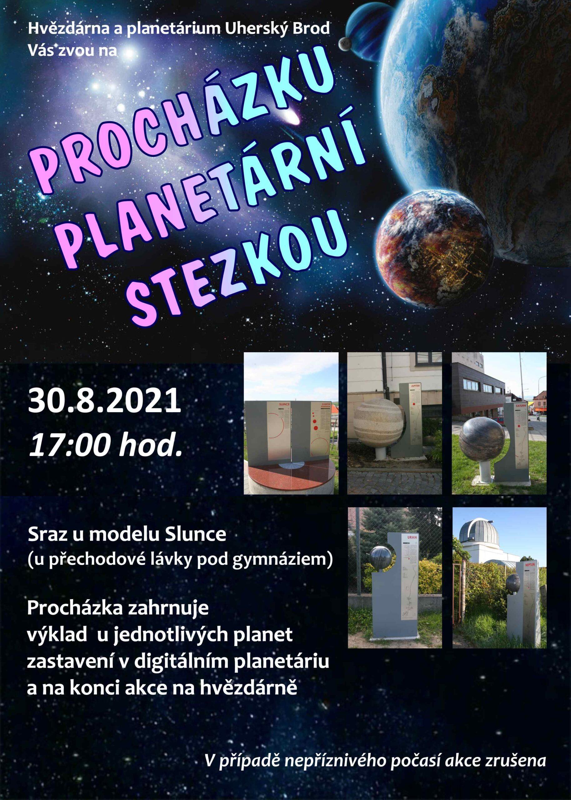 ZRUŠENO - Procházka planetární stezkou